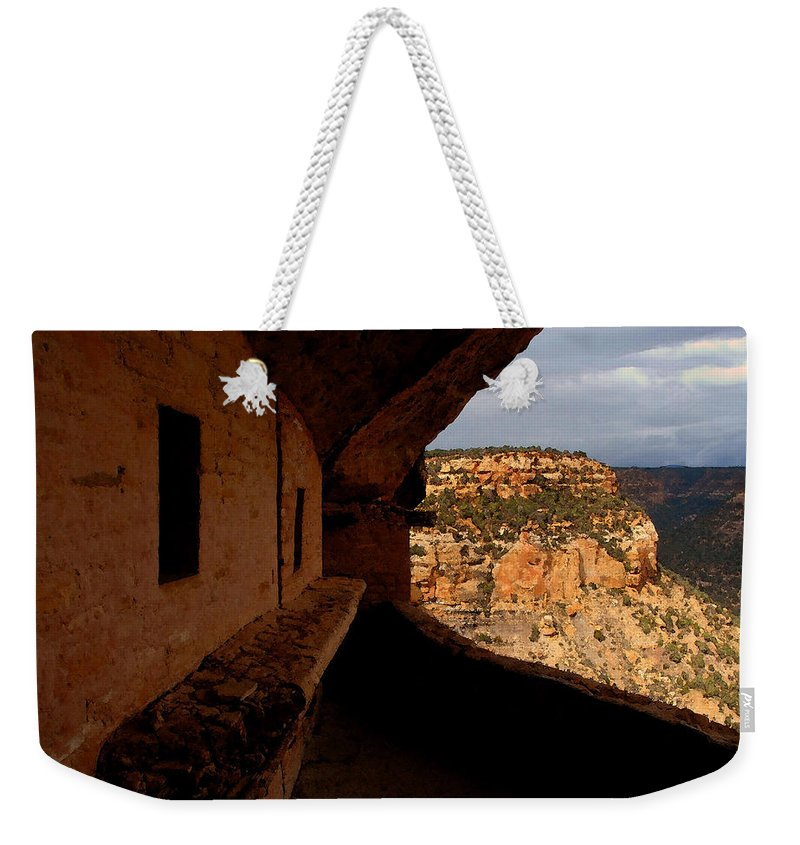 Art Weekender Tote Bag featuring the painting Balcony House by David Lee Thompson