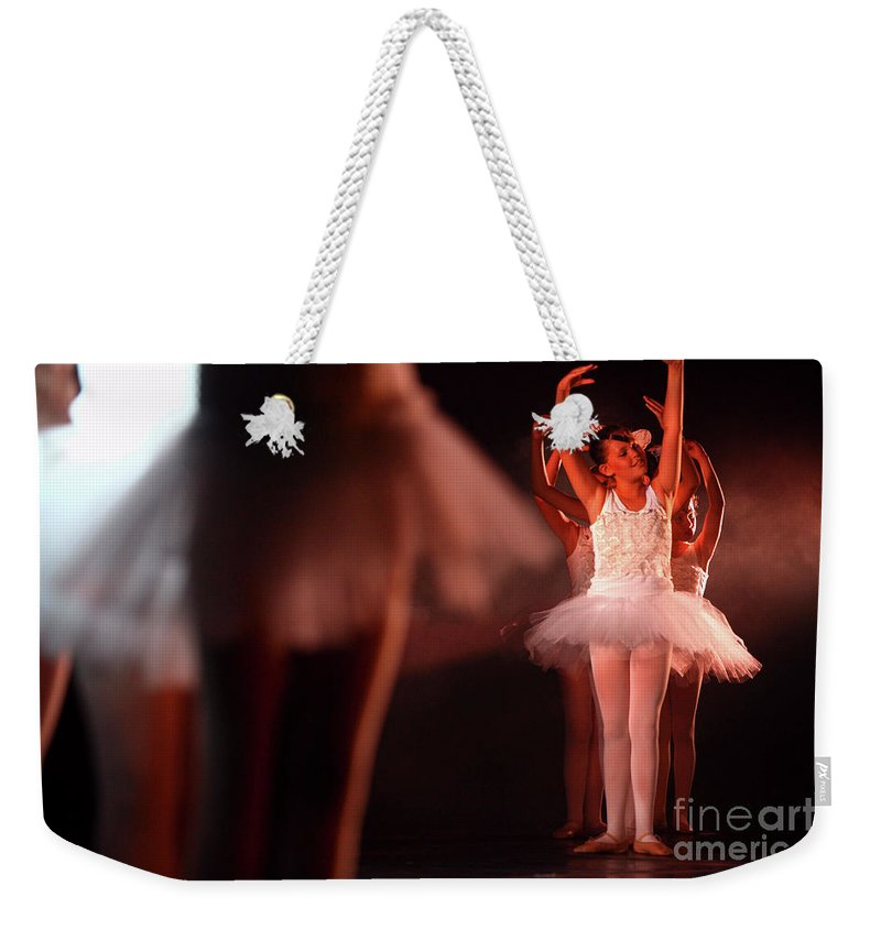 Ballet Weekender Tote Bag featuring the photograph Ballet Performance by Chen Leopold