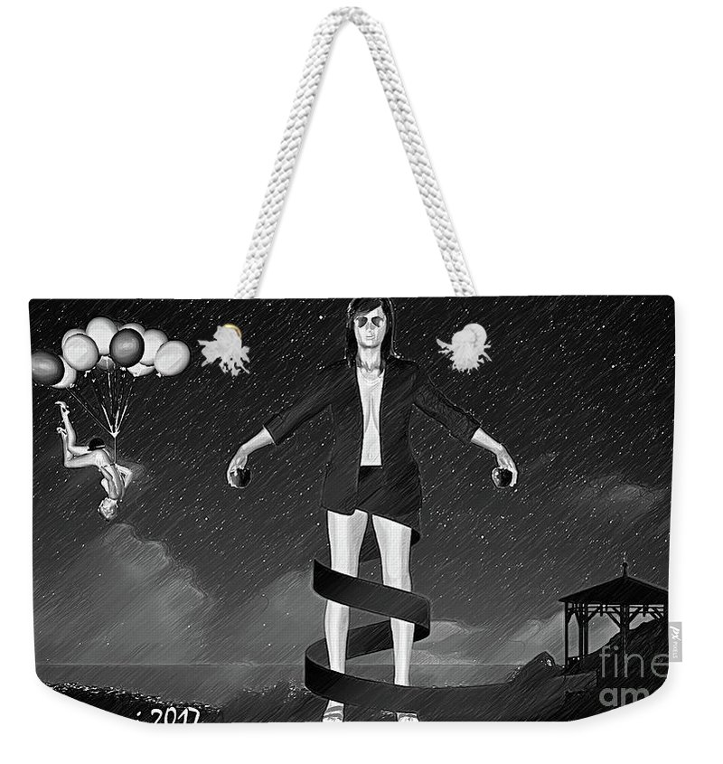 Surrealism Weekender Tote Bag featuring the digital art Balloons And Surrealism 2 by Silvano Franzi