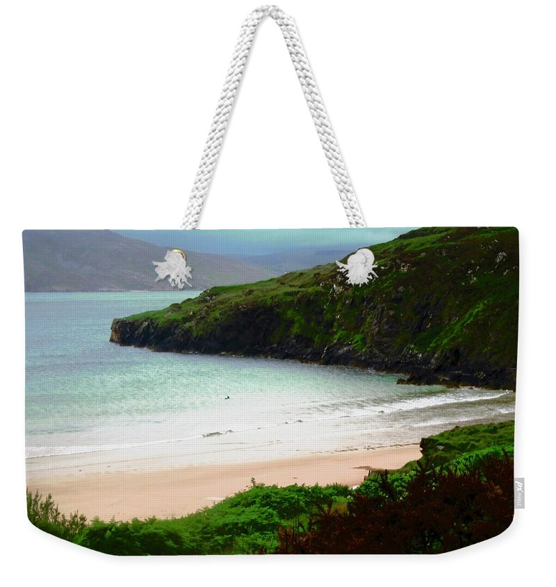 Beach Weekender Tote Bag featuring the photograph Ballymastocker Bay by Stephanie Moore