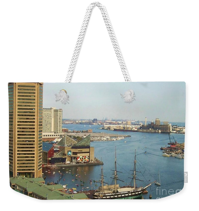 Baltimore Weekender Tote Bag featuring the photograph Baltimore by Debbi Granruth