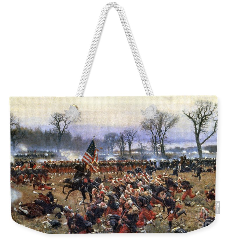 1862 Weekender Tote Bag featuring the painting Battle Of Fredericksburg - To License For Professional Use Visit Granger.com by Granger