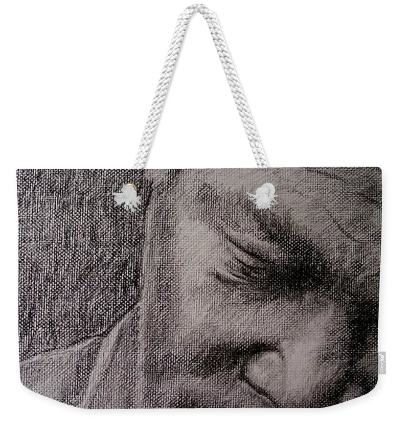 Bbking Weekender Tote Bag featuring the painting Bbking by Frances Marino