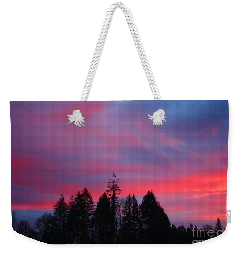 Sunrise Weekender Tote Bag featuring the photograph Beautiful Sunrise by Nick Gustafson