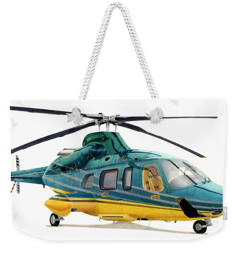 Helicopter Weekender Tote Bags
