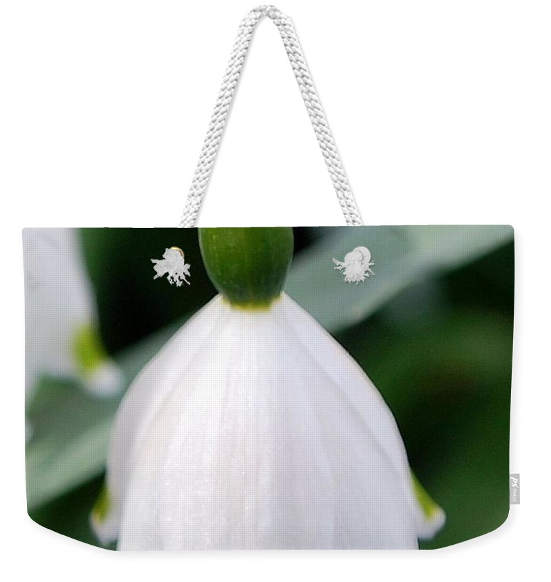Bell Flower Weekender Tote Bag featuring the photograph Bell Flower by Amy Fose