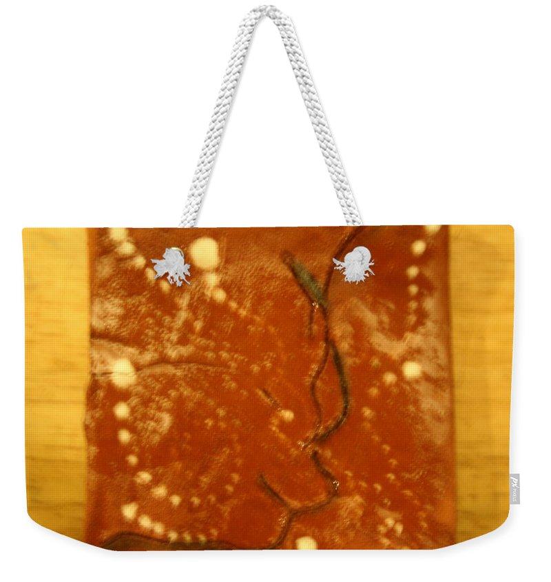 Jesus Weekender Tote Bag featuring the ceramic art Belle - Tile by Gloria Ssali