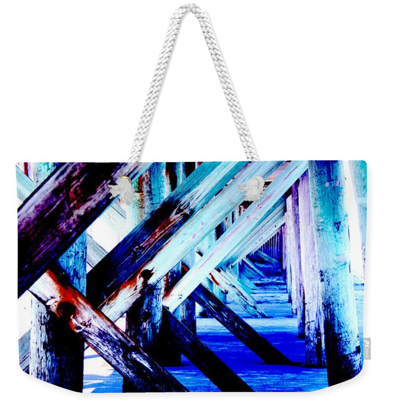 Dock Weekender Tote Bag featuring the photograph Beneath The Docks by Jamie Lynn
