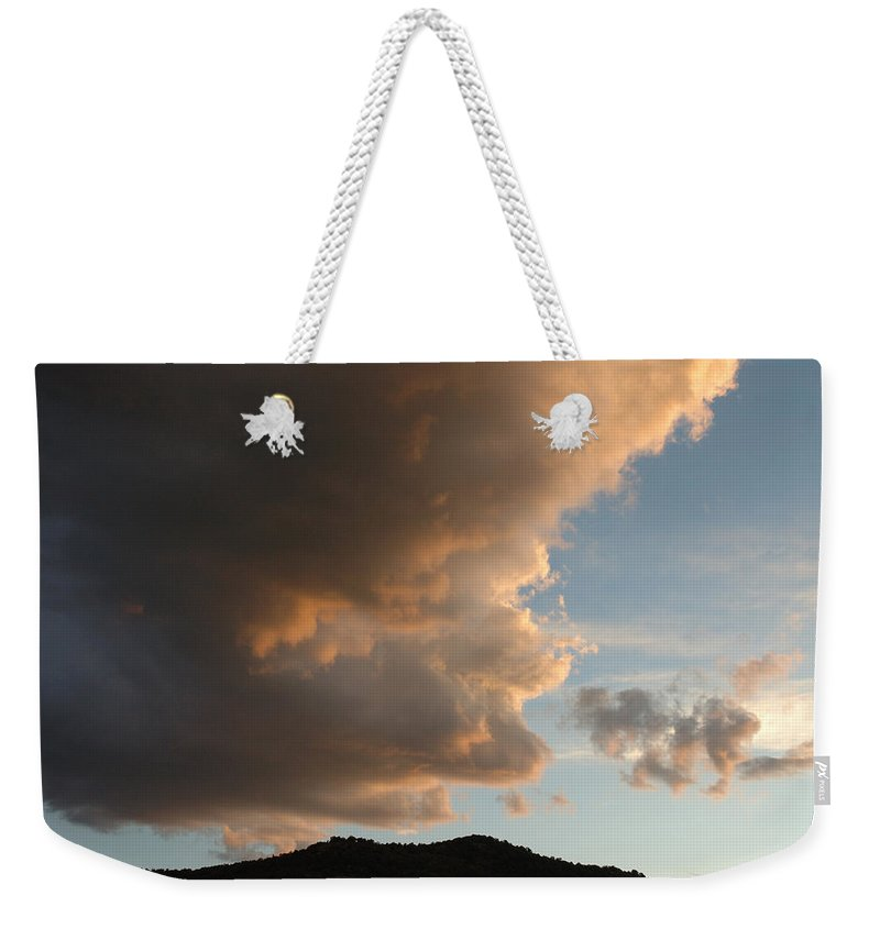 Landscape Weekender Tote Bag featuring the photograph Big Cloud by Jerry McElroy