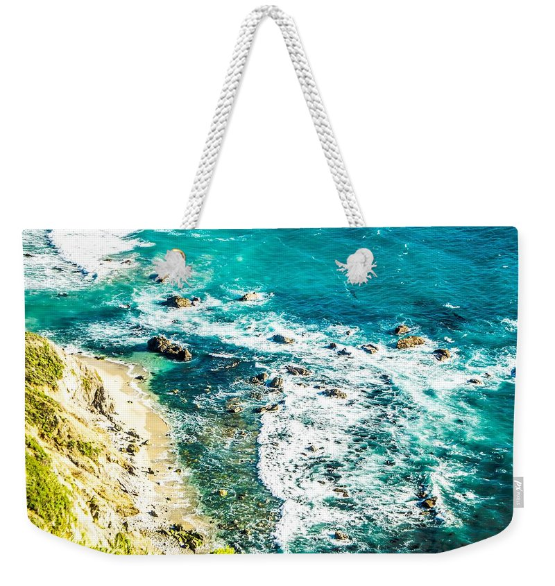 Big Weekender Tote Bag featuring the photograph Big Sur California Coastline On Pacific Ocean by Alex Grichenko