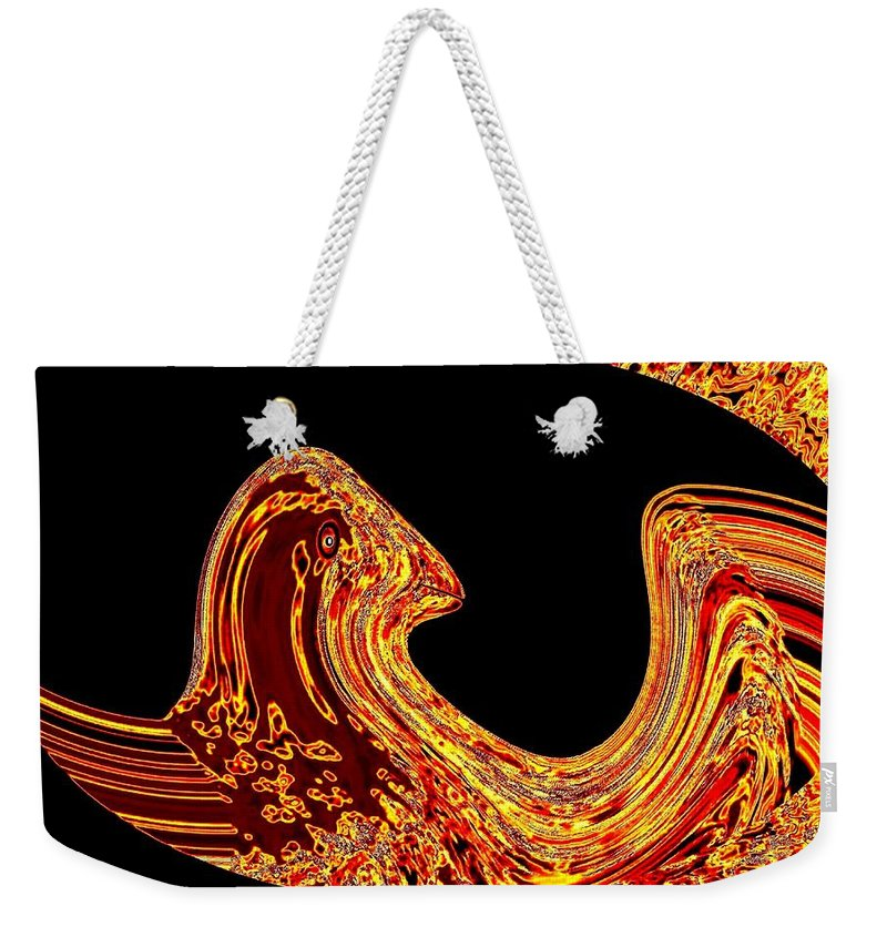Golden Eagle Weekender Tote Bag featuring the digital art Birth Of A Golden Eagle by Will Borden