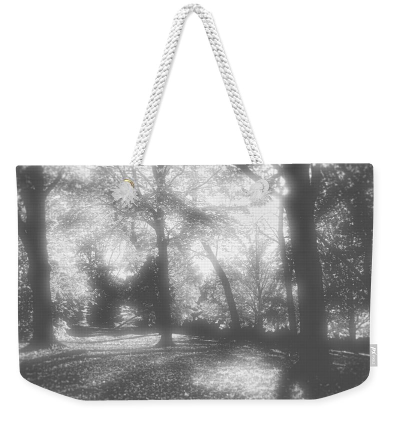 Root River Parkway Weekender Tote Bag featuring the photograph Black And White by Debbie Nobile