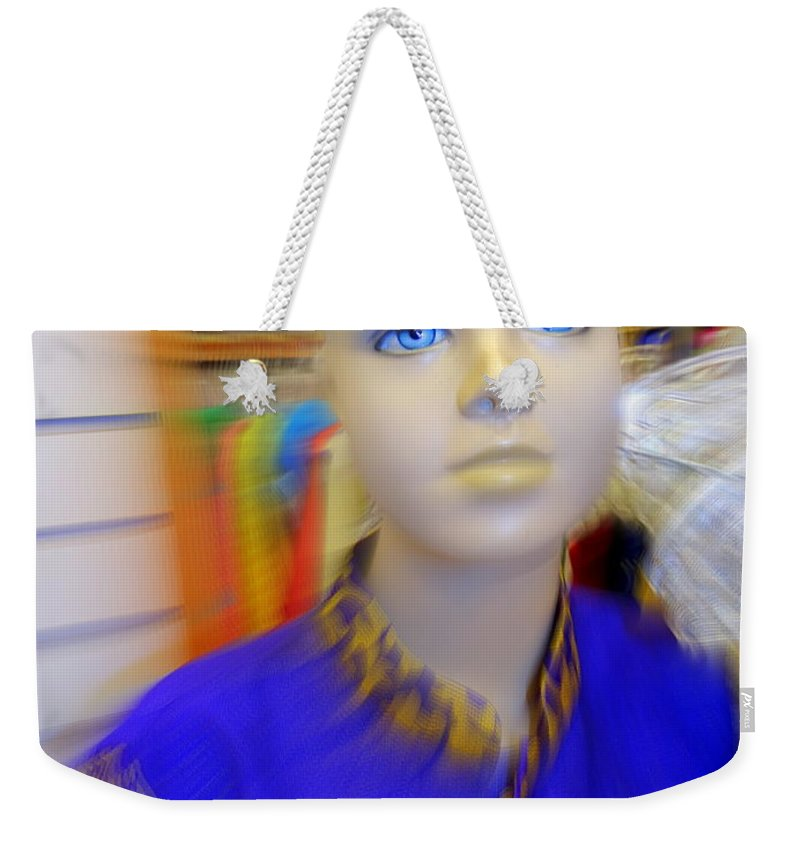 Mannequins Weekender Tote Bag featuring the photograph Blue Eyed Boy by Ed Weidman