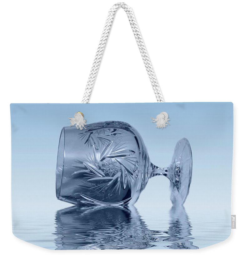 Glass Weekender Tote Bag featuring the photograph Blue Glass by David French
