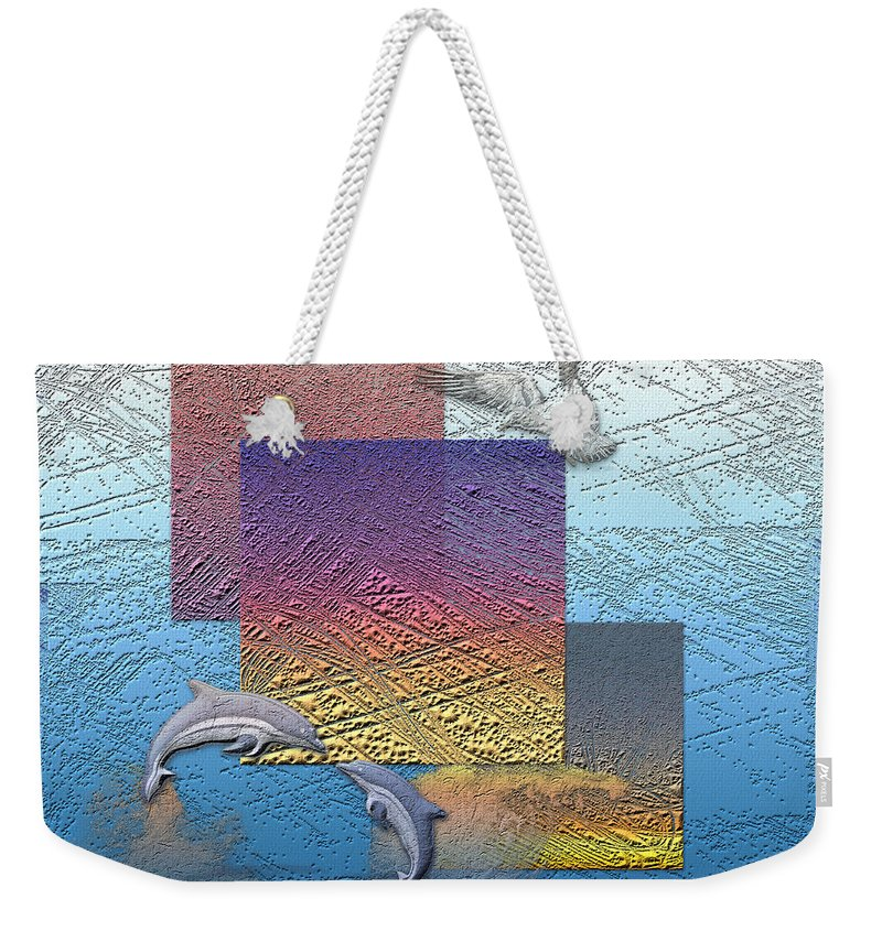 �from Dusk Till Dawn� Collection By Serge Averbukh Weekender Tote Bag featuring the photograph Blue Lagoon Sunrise by Serge Averbukh