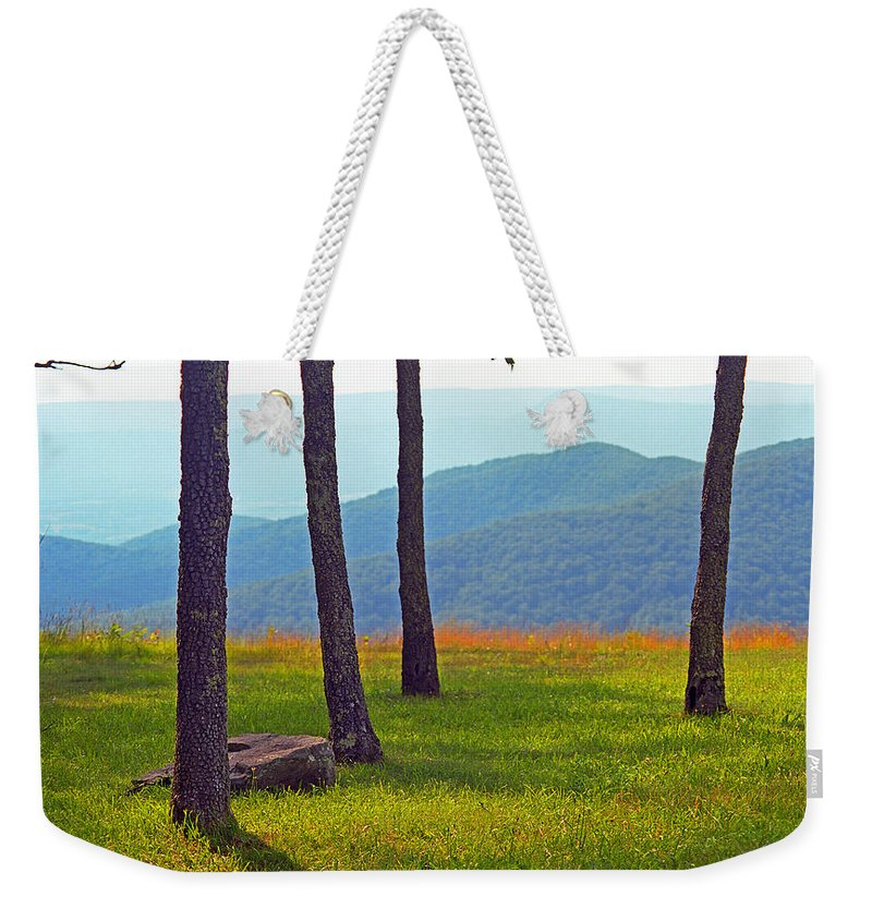 Alpine Weekender Tote Bag featuring the photograph Blue Ridge Mountains - Virginia 2 by Frank Romeo
