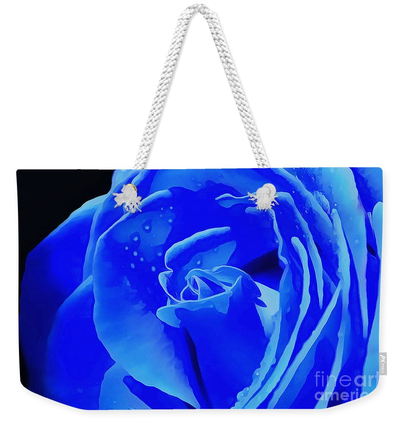 Rose Weekender Tote Bag featuring the photograph Blue Romance by Krissy Katsimbras