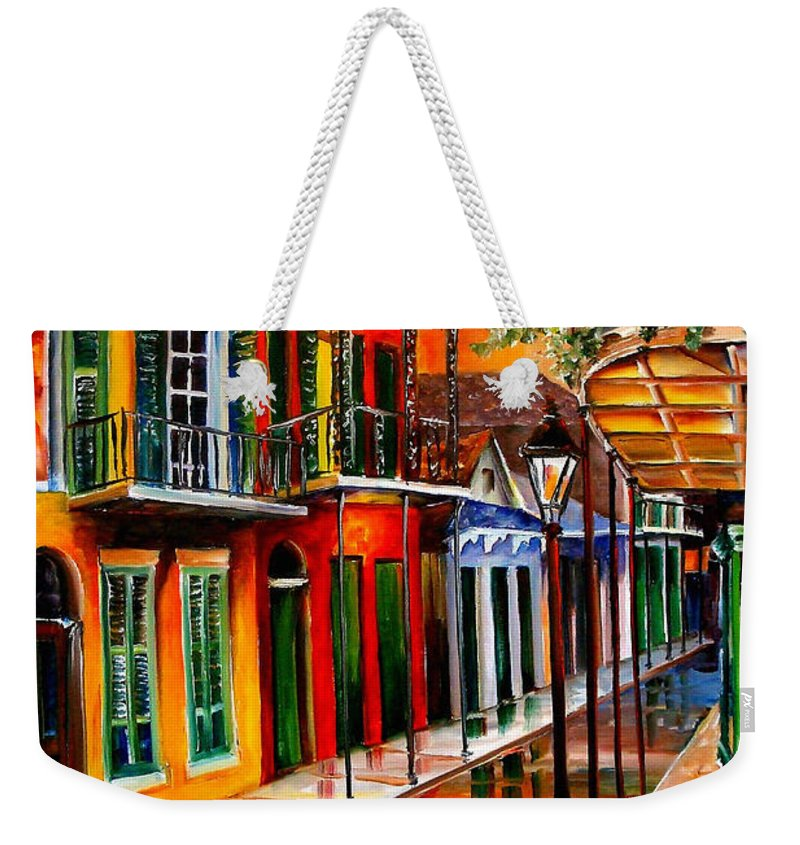 New Orleans Weekender Tote Bag featuring the painting Bold Vieux Carre by Diane Millsap