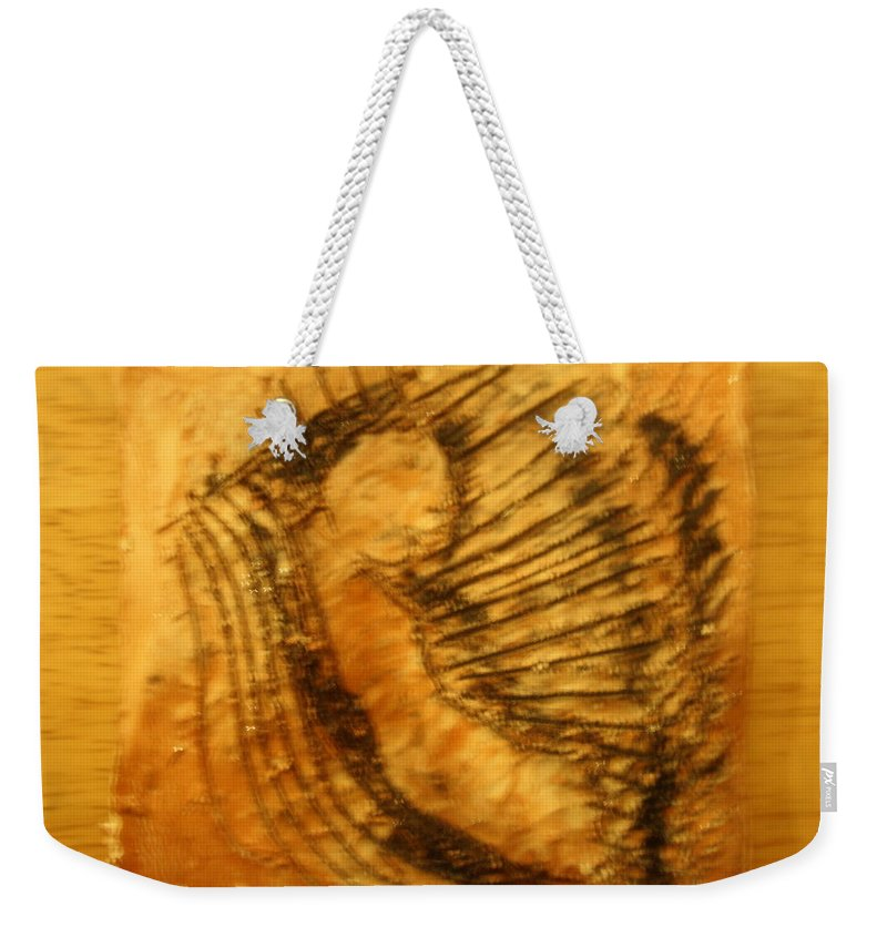 Jesus Weekender Tote Bag featuring the ceramic art Born Again - Tile by Gloria Ssali