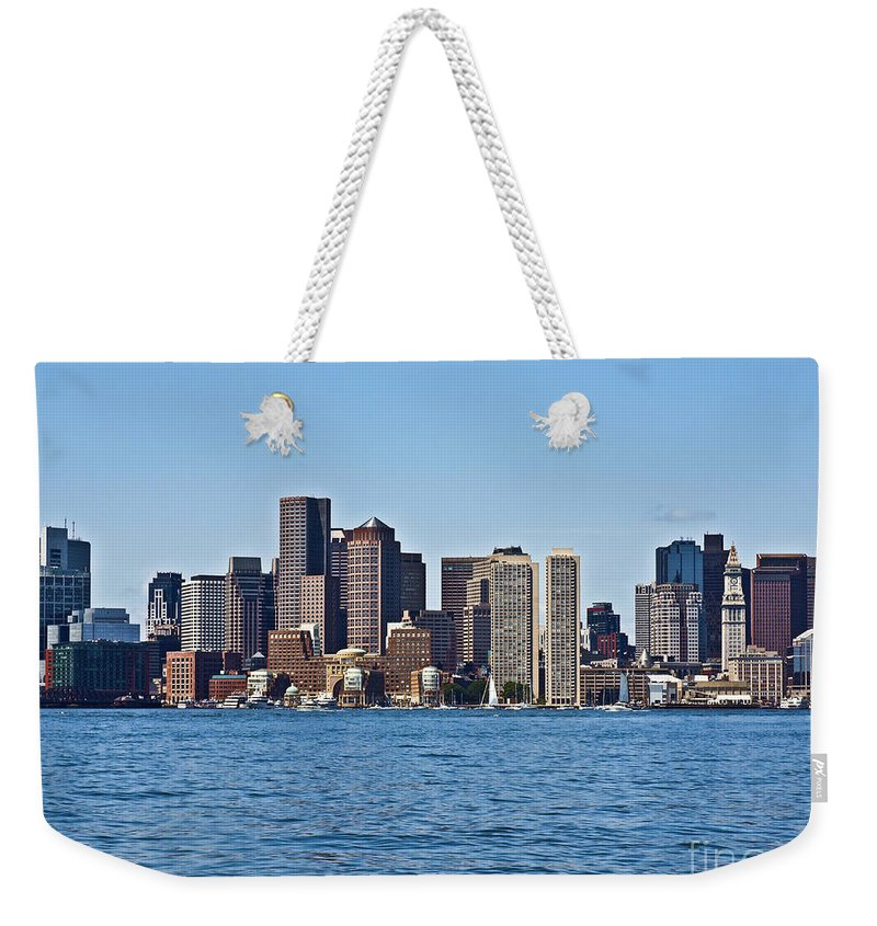 Boston Weekender Tote Bag featuring the photograph Boston Mar142 by Howard Stapleton