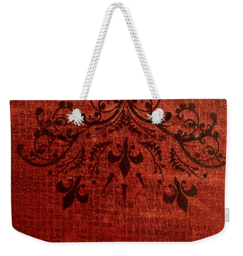 Red Weekender Tote Bag featuring the painting Boudoir Two by Laurette Escobar