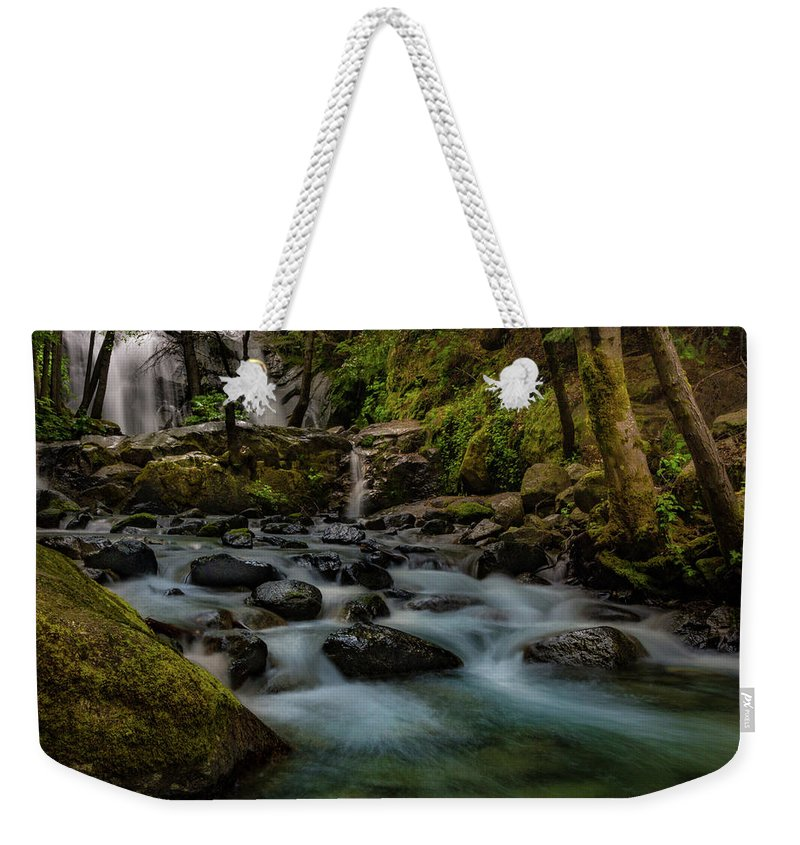 Brandy Creek Weekender Tote Bag featuring the photograph Brandy Creek Falls by Michele James