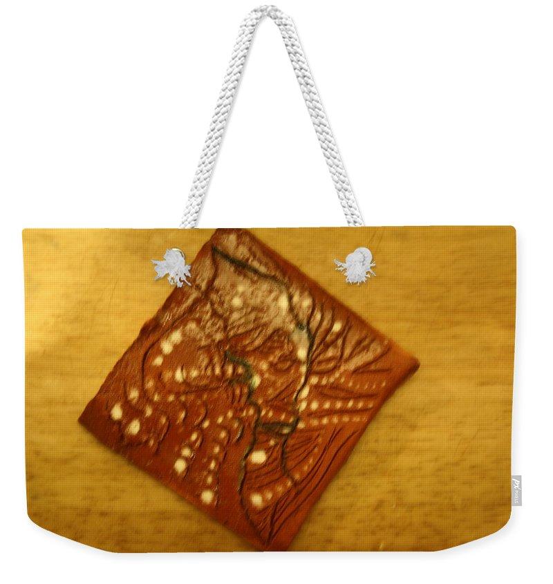Jesus Weekender Tote Bag featuring the ceramic art Breathe - Tile by Gloria Ssali