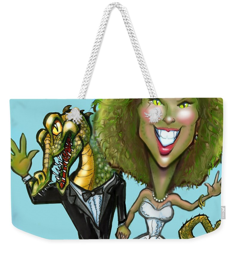 Bridezilla Weekender Tote Bag featuring the greeting card Bridezilla by Kevin Middleton