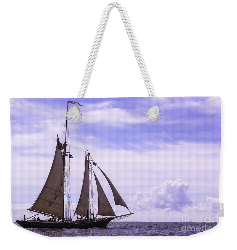 Amistad Weekender Tote Bag featuring the photograph Bright Skies by Joe Geraci