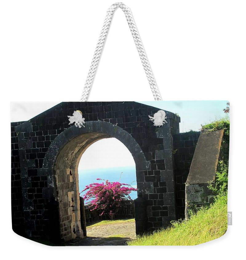 Fort Weekender Tote Bag featuring the photograph Brimstone Gate by Ian MacDonald