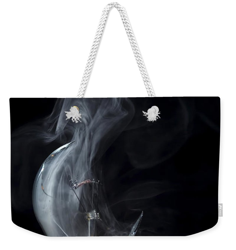 Bulb Weekender Tote Bag featuring the photograph Broken Light Bulb by Michal Boubin