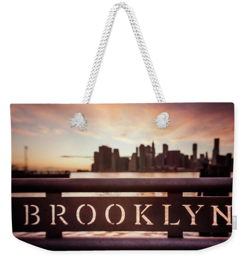 Kremsdorf Weekender Tote Bag featuring the photograph Brooklyn by Evelina Kremsdorf