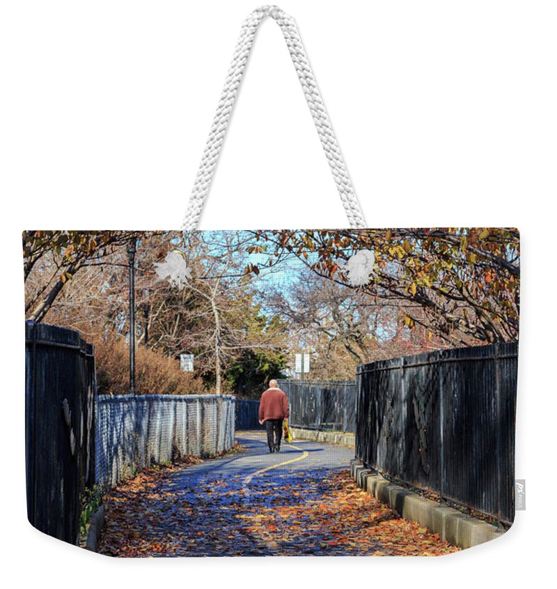 America Weekender Tote Bag featuring the photograph Brooklyn Park In Fall by Jannis Werner