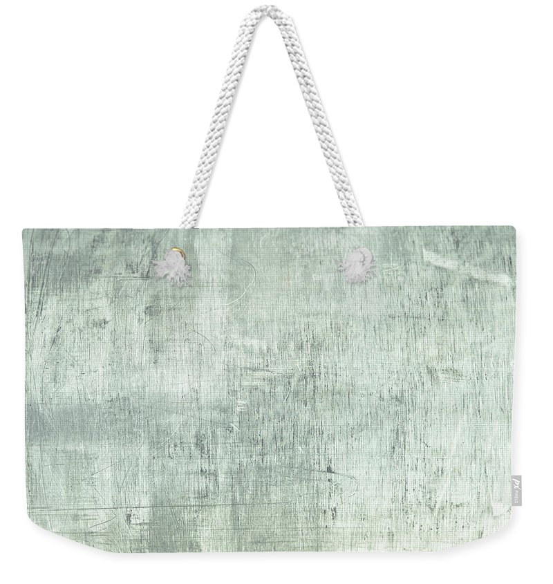 Abstract Weekender Tote Bag featuring the photograph Brushed Metal by Tom Gowanlock