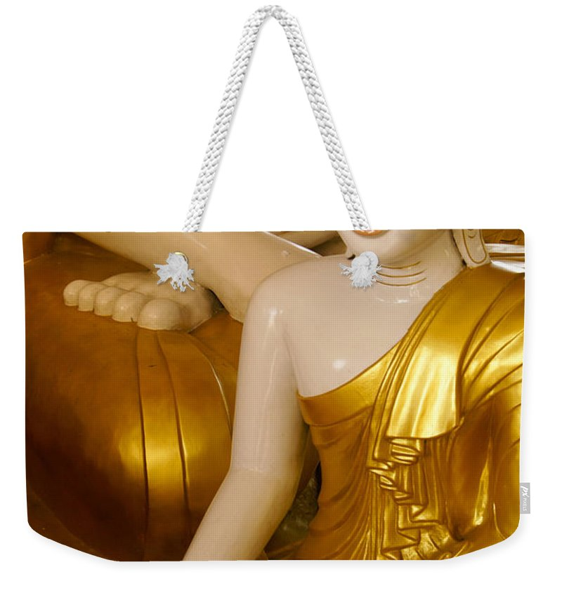 Buddha Weekender Tote Bag featuring the photograph Buddhas In Burma by Michele Burgess