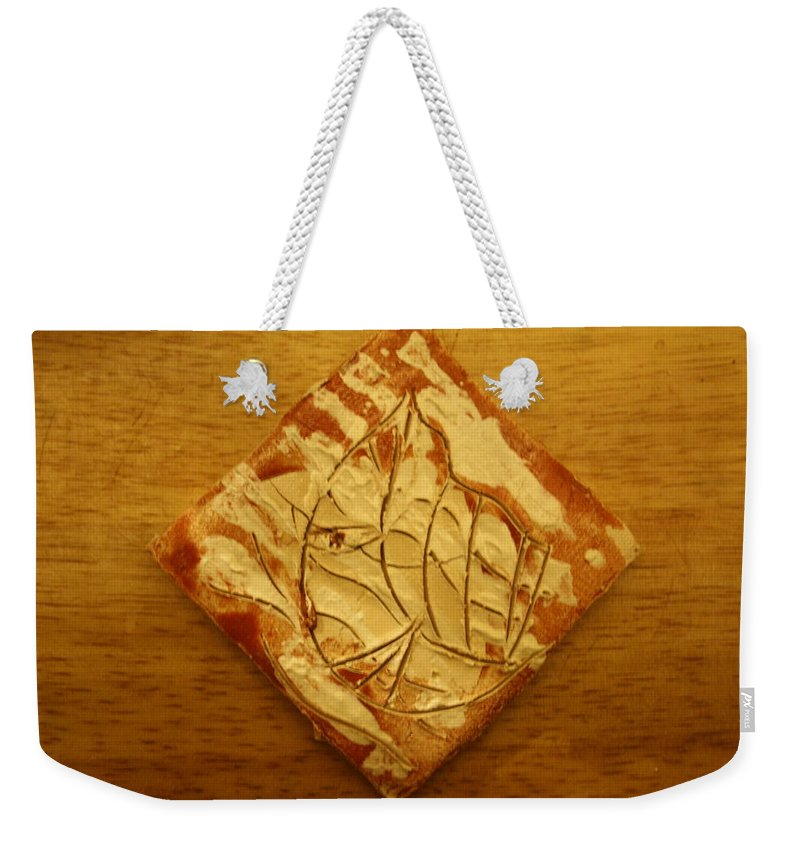 Jesus Weekender Tote Bag featuring the ceramic art Butterfly - Tile by Gloria Ssali