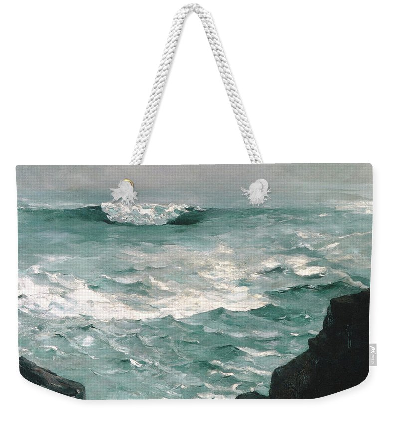 Homer Weekender Tote Bag featuring the painting Cannon Rock, 1895 1 by Winslow Homer