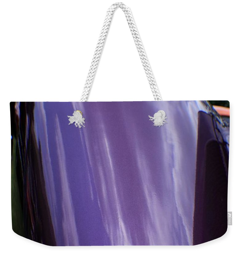 Cars Weekender Tote Bag featuring the photograph Car Reflection 12 by Karl Rose