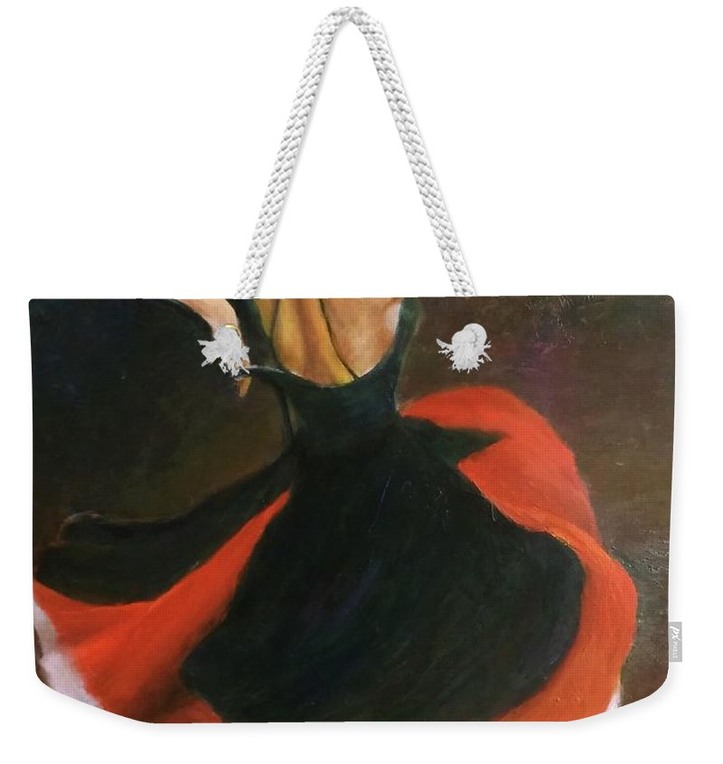 Dance Weekender Tote Bag featuring the painting Carmen by Sylva Zalmanson