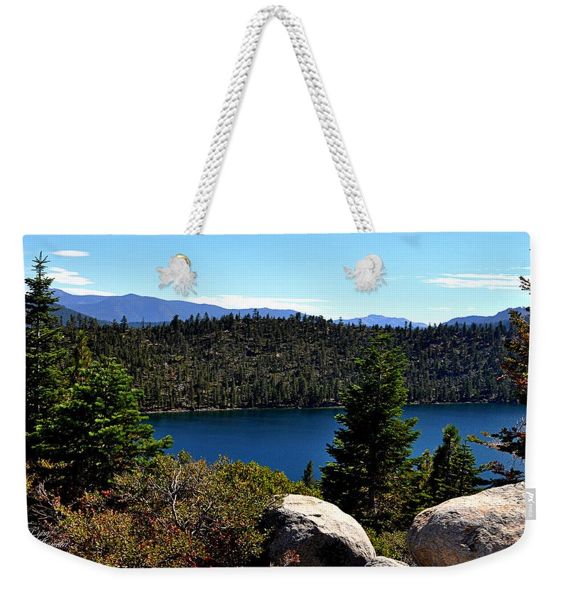 Lakes Weekender Tote Bag featuring the photograph Cascade Lake by Lynn Bawden