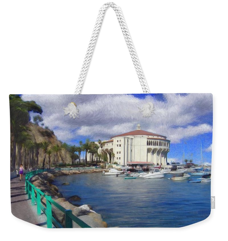 Catalina Weekender Tote Bag featuring the digital art Casino Runner by Snake Jagger