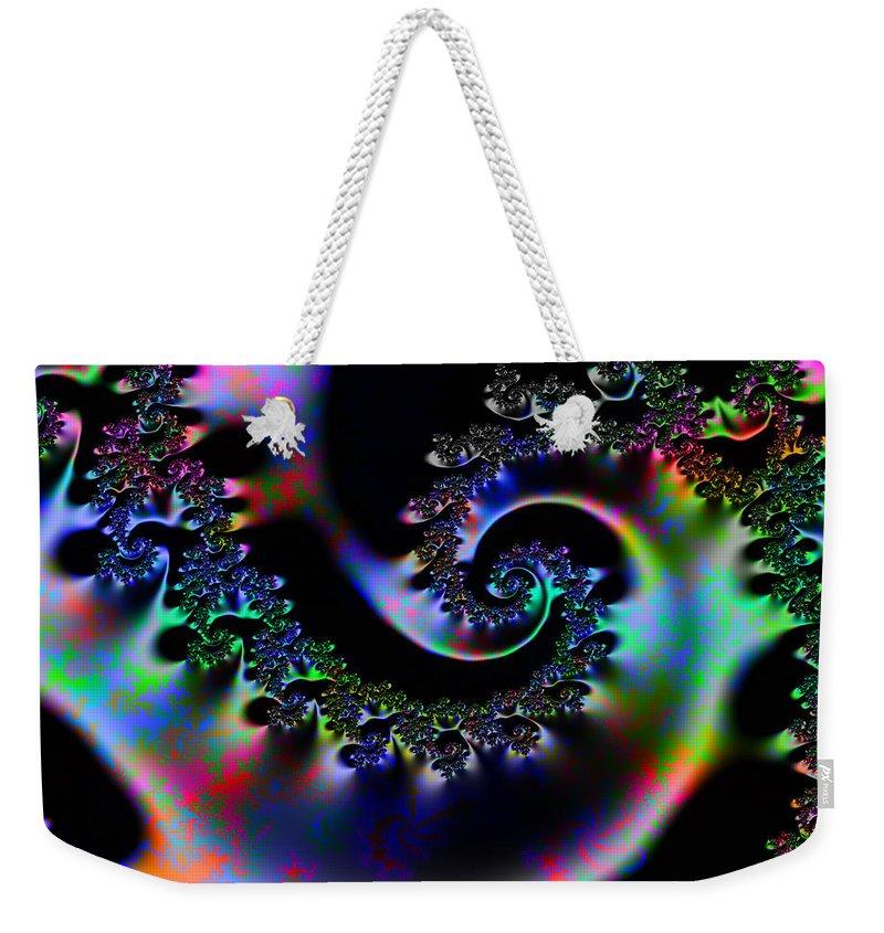 Design Weekender Tote Bag featuring the digital art Cassie's World by Robert Orinski