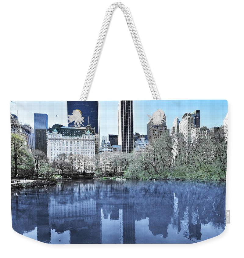 America Weekender Tote Bag featuring the photograph Central Park In New York City by Svetlana Sewell
