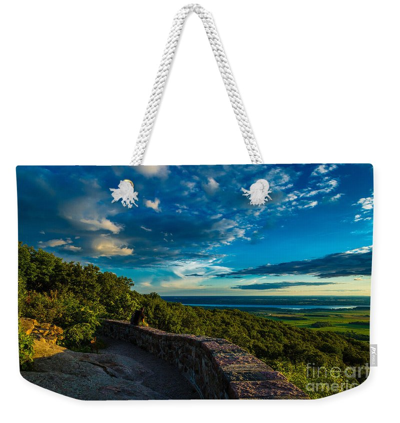 Quebec Weekender Tote Bag featuring the photograph Champlain Lookout by Roger Monahan