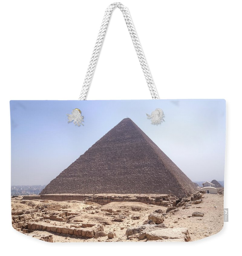 Great Pyramid Of Giza Weekender Tote Bag featuring the photograph Cheops Pyramid - Egypt by Joana Kruse