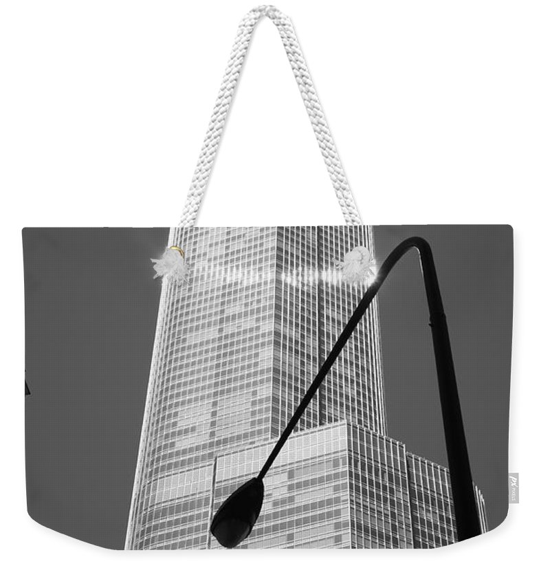 Aglow Weekender Tote Bag featuring the photograph Chicago Skyscraper by Frank Romeo
