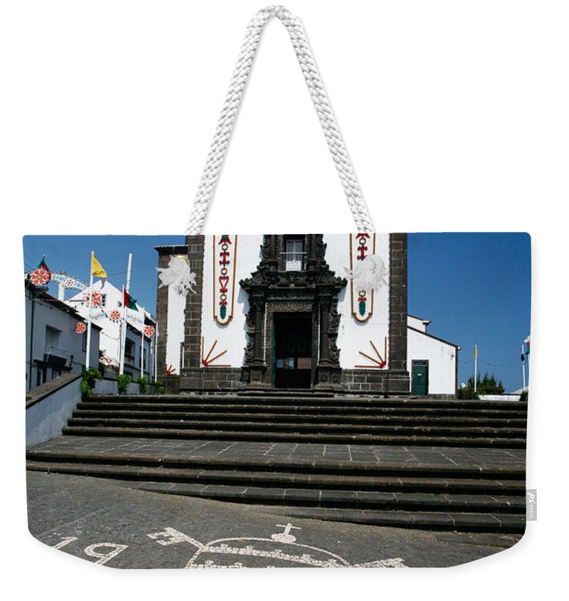 Architecture Weekender Tote Bag featuring the photograph Church In The Azores by Gaspar Avila