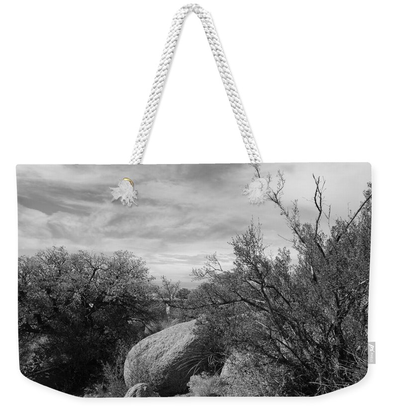 Black And White Weekender Tote Bag featuring the photograph Cibola National Forest by Rob Hans