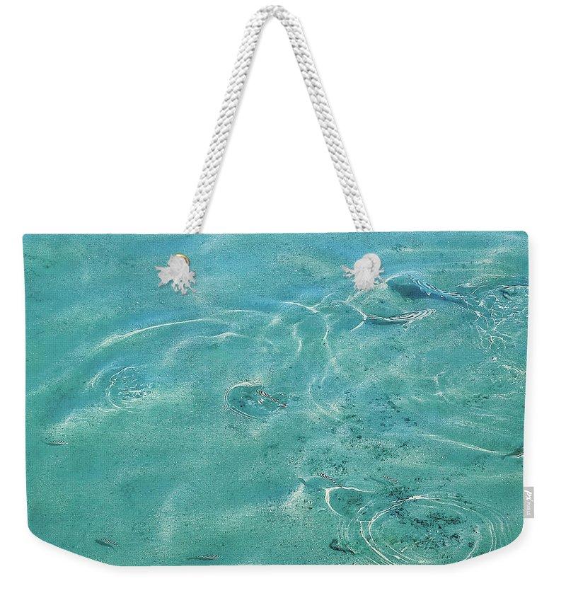 Circles On The Water Weekender Tote Bag featuring the photograph Circles On The Water by Nat Air Craft