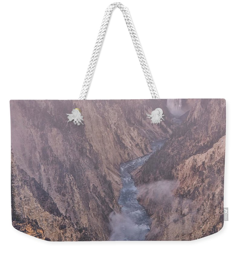 Luis Ramirez Weekender Tote Bag featuring the photograph Classic Lower Falls by Luis A Ramirez